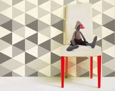 hexagons, wallpaper by Humpty Dumpty Room Decoration, HDRD, interior design by Fajnodesign.by