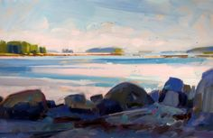 """Shifting Tide"" by Philip Frey. 24""x36"" Oil.  www.maine-art.com"