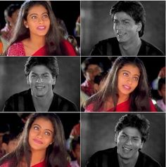 Image discovered by kingg khan. Find images and videos about srk, salman khan and kajol on We Heart It - the app to get lost in what you love. Bollywood Stars, Bollywood Couples, Bollywood Celebrities, Shahrukh Khan And Kajol, Shah Rukh Khan Movies, Aamir Khan, Kuch Kuch Hota Hai, Romantic Dialogues, Kajol Saree