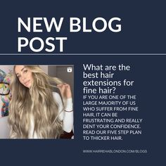 Are one of the large majority of us who suffer from fine hair? It can be frustrating and really dent your confidence. Read our five step plan to thicker hair and to find the best hair extensions for fine hair. Hair Rehab London, London Blog, Hair Extensions Best, Thicker Hair, Hair Strand, Fine Hair, Cool Hairstyles, Confidence, Good Things