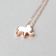 Lucky Elephant Necklace Pendant Rose Gold - Gold - Silver Handmade