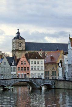 A canal in Bruges - Brugge, Oost-Vlaanderen