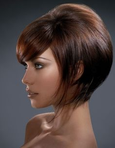 If only I could pull off bangs and my hair curled well enough this short! Super Cute!