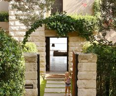 A gorgeous front garden that extends beyond your front fence can add value and sociability to your home. Courtyard Entry, Courtyard Design, Garden Design, Garden Structures, Outdoor Structures, Front Fence, Front Entry, Front Verandah, Front Entrances