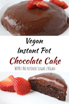 For a super moist & delicious vegan chocolate cake, try making it in your Instant Pot! I even have a recipe for a creamy, mint chocolate frosting! Vegan Dessert Recipes, Whole Food Recipes, Cake Recipes, Vegan Chocolate, Chocolate Recipes, Mint Chocolate, Chocolate Cake From Scratch, Cupcakes, Vegan Cake