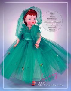 Cissy 1958 wintergreen tulle 3/4 gown