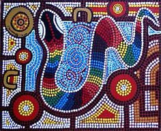 JoyZine - Australian Aboriginal Dreamtime: In the Womb of the Rainbow Serpent Aboriginal Art Animals, Aboriginal Dot Painting, Aboriginal Artists, Aboriginal People, Rainbow Snake, Rainbow Serpent, Aboriginal Dreamtime, Aboriginal Culture, Aboriginal Education