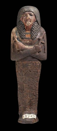 Wooden shawabty of Ramose. New Kingdom. 19th dynasty. 1295–1186 B.C. | Museum of Fine Arts, Boston