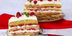 Pribináčiková torta s malinami - Tinkine recepty Vanilla Cake, Cheesecake, Sweet, Food, Vanilla Sponge Cake, Meal, Cheesecakes, Essen, Hoods