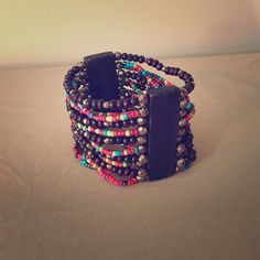 24 HOURS ONLY  Multi colored stretch bracelet Stretchy, multi-colored beads, wooden, spunky! Jewelry Bracelets