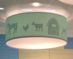 Plafondlamp Kinderkamer Juul Design, Mint Farm Silhouette
