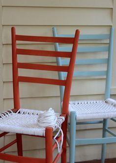 Hand Woven Chairs by Coryanne Ettiene