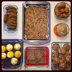 Hi Friends! Just popping in to share what I prepped last weekend: I only had time to prep in the morning before we went to the grocery store, but I still managed to make: Egg muffins with peppers and pancetta Sweet Potato Protein Cookies Quinoa Breakfast Bars No Bake Protein Bars PB Banana Oat Muffins …