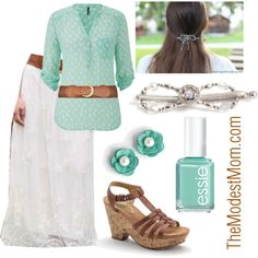 Fashion Outfits - 'Mint' to Be - The Modest Mom