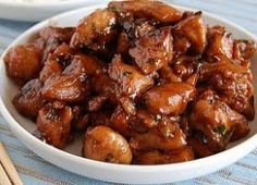 Filipino Style Recipe: chicken and pork adobo is another variety of popular Filipino adobo. Usually we serve chicken or pork adobo but in this recipe we will Pork Recipes, Asian Recipes, Chicken Recipes, Cooking Recipes, Healthy Recipes, Ethnic Recipes, Pork Adobo Recipe, Chicken Teriyaki Recipe, Vegan Coleslaw