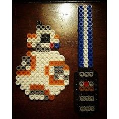 BB-8 Star Wars VII perler beads by tonystark626
