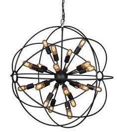 Meuble Lustre Spoutnik - 24 lampes - Mobilier Lampes, lustres, appliques, ..... Signature