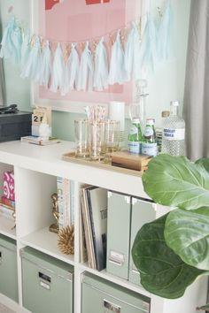 Studio Styling with Ikea Storage | via Dream Green DIY