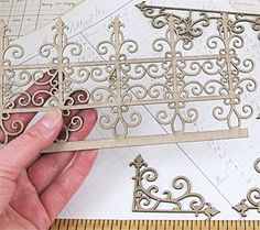 Chipboard Wrought Iron Flourishes Set*