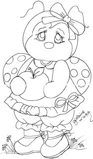 Disney Drawings Sketches, Drawing Sketches, Applique Quilt Patterns, Embroidery Patterns, Tole Painting, Fabric Painting, Ladybug Coloring Page, Coloring Books, Coloring Pages