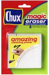 Chux Magic Eraser Hard Surface Cleaner. Removes anything. Just be careful on painted surfaces. Too much rubbing will remove paint.