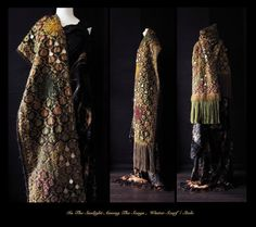 RESERVED  luxurious nomad winter scarf Art to Wear scarf by Jevda, $415.00