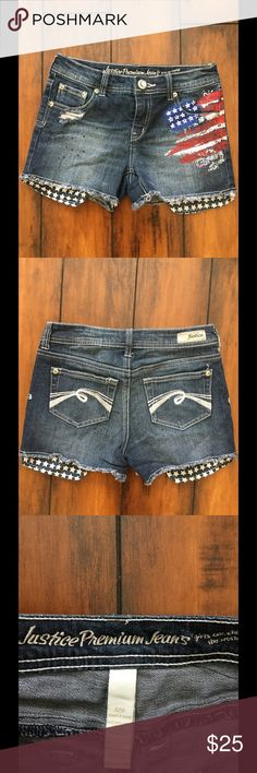 🎉HP🎉 11/13🎉Justice American shorts Super cute justice shorts. Worn once. Size 12R. Justice Bottoms Shorts
