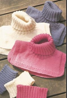 Knit Womans Pdf/OhhhMama/ Head Bands and Dickie Wear with Shirts or Sweaters Casual Wear Sports Wear Knitting Paterns, Baby Hats Knitting, Knitting For Kids, Knitting Socks, Knitting Designs, Free Knitting, Knit Vest Pattern, Knit Patterns, Embroidery Fashion