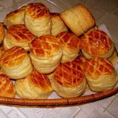 Tejfölös-vajas pogácsa receptje   Mindmegette.hu Cake Recipes, Dessert Recipes, Savory Pastry, Good Food, Yummy Food, Salty Snacks, Hungarian Recipes, Fresh Bread, Biscuit Recipe