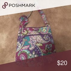 Vera purse Used once! Zips shut. Extra zipper pouch on the front. Vera Bradley Bags Crossbody Bags