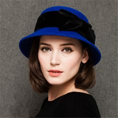 Bucket bowler wool hats for women with bow for winter | Buy cool cap,fashion hats on buyhathats.com