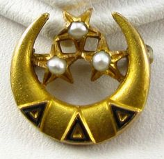 "Delta Delta Delta Badge  - brings back memories of formal dinner and throwing on my ""chapter meeting skirt""!"
