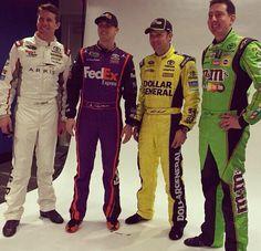 2015 Joe Gibbs Racing Cup series; Carl Edwards, Denny Hamlin, Matt Kenseth & Kyle Busch