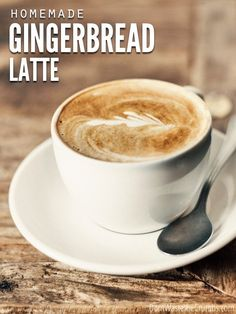 Create Your Own Gingerbread Latte with this super simple recipe using ingredients you likely have on hand. Starbucks taste with a fraction of the cost! :: DontWastetheCrumbs.com