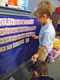 a great beginning of the year math bin-- ordering numbers 1-100.