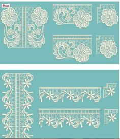 tuscany lace edgings 6 threads n scissors