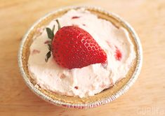 Mini No Bake Strawberry Cheesecake