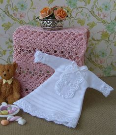 Dollhouse miniature. Baby nightgown. 1/12 scale. by Buyminiart