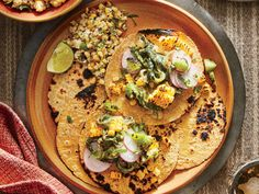 Creamy Poblano Tacos look for chayote in Mexican markets, or substitute zucchini.