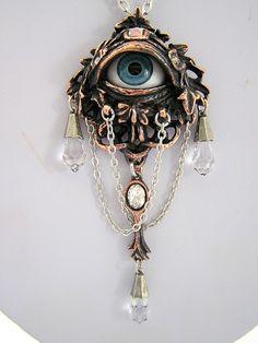 Alchemy Gothic Eye Necklace Steampunk Eyeball Heavy Metal Swarovski Crystals NWT #Alchemy1977AlchemyGothicofEngland #SteampunkGothicMagic