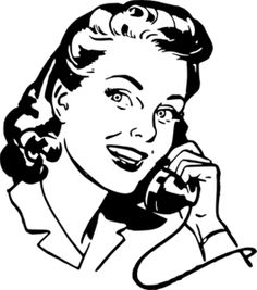 Lady Speaking On Phone Clip Art