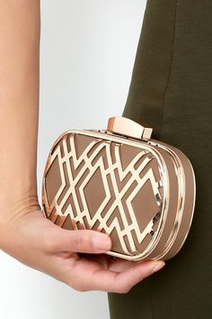 Time for Takeoff Gold and Taupe Clutch at Lulus.com!