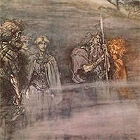 The gods grow wan and aged at the loss of Freia by Arthur Rackham from Das Rheingold by Richard Wagner Arthur Rackham, Fairy Land, Fairy Tales, Richard Wagner, Fairytale Art, Viking Age, Norse Mythology, Conte, Faeries