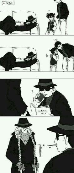 Conan Akai-san Gin and Vodka Detective Conan Gin, Detective Conan Shinichi, Conan Comics, Detektif Conan, Magic Kaito, Manga Anime, Detective Conan Wallpapers, Gosho Aoyama, Kaito Kid