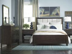 Bassett has a large collection of upholstered beds and bed frames. Browse our collection of panel beds, live edge beds, and much more. We're sure to have the perfect upholstered bed for your style. Blue Bedroom Decor, Bedroom Ideas, Bedroom Makeovers, Beach Bedding Sets, King Bedroom Sets, Master Bedroom, Bedding Inspiration, House Beds, Upholstered Beds