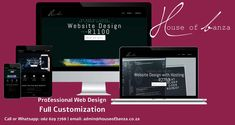 Almost 40% of web users will leave a #website if it's poorly designed. Are you losing potential customers and thus, money? I can help you. I am a passionate #webdesigner with the goal of making beautiful, interactive and dynamic websites. I offer #customized web design with Search Engine Optimized (#SEO) starting at R1100. Give me a call or WhatsApp on 062 629 7768 if you're interested in building yourself online. Visit my website at www.houseofbanza.co.za to view all the packages I offer. News Web Design, Professional Web Design, I Site, Search Engine, Give It To Me, Coding, Building, Seo, Goal