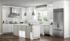 Solid Wood Kitchen Cabinets, Kitchen Cabinets For Sale, Linen Cabinets, Solid Wood Kitchens, White Bathroom Cabinets, Kitchen Cabinetry, New Kitchen, Rta Cabinets, 3d Kitchen Design