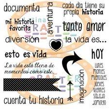 Frases en Español (4 x 4) - Estos sellitos de #LatinaCrafter ya los usé en una página de Projec Life y se ven geniales!
