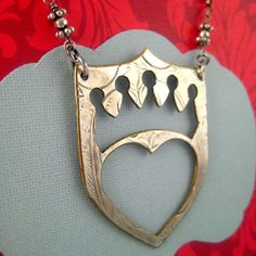 Heart and Crown Necklace