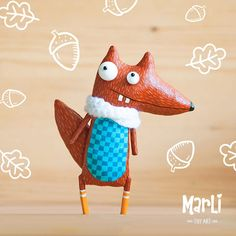 little squirrel by MarLitoys on Etsy